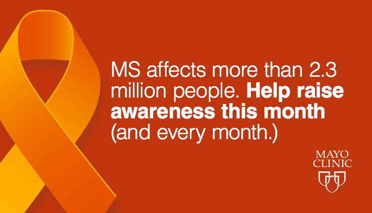 Orange ribbon for MS education month