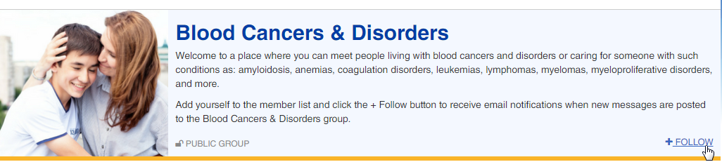 Group follow screenshot