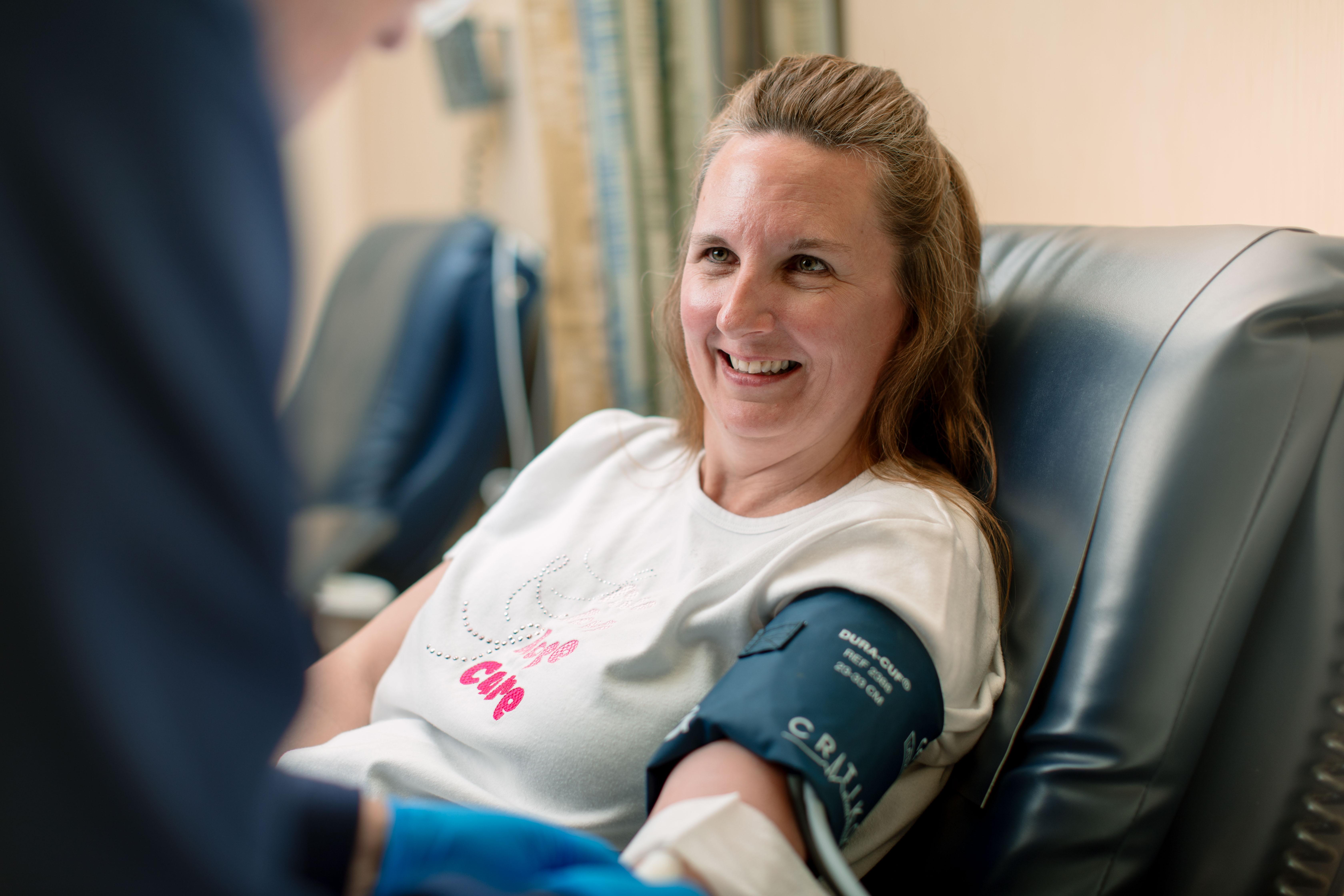 Robyn donating