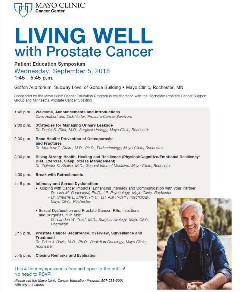 Prostate Symposium, Wednesday, September 5th, Rochester, MN