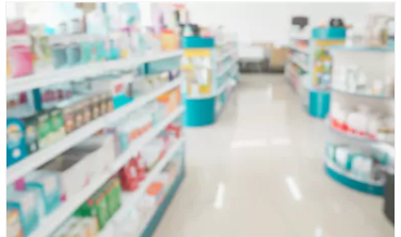 OTC medication aisle