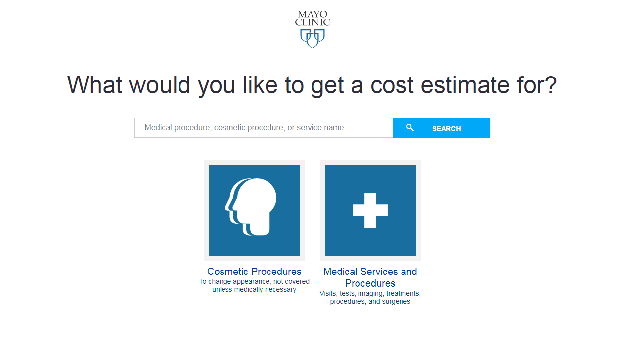Cost estimator tool view