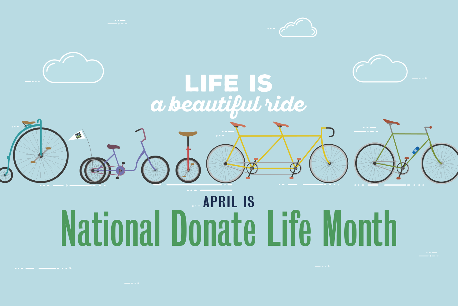 Life is a Beautiful Ride - National Donate Life Month Statistics
