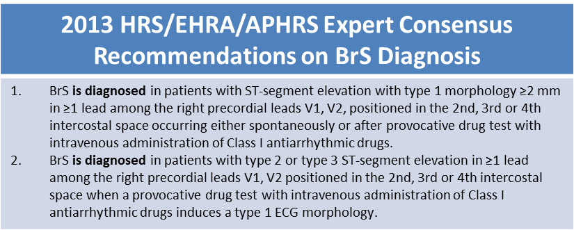 2013 BrS Diagnosis Recommendations