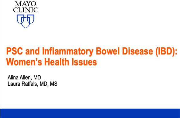 PSC and Inflammatory Bowel Disease (IBD): Women's Health Issues