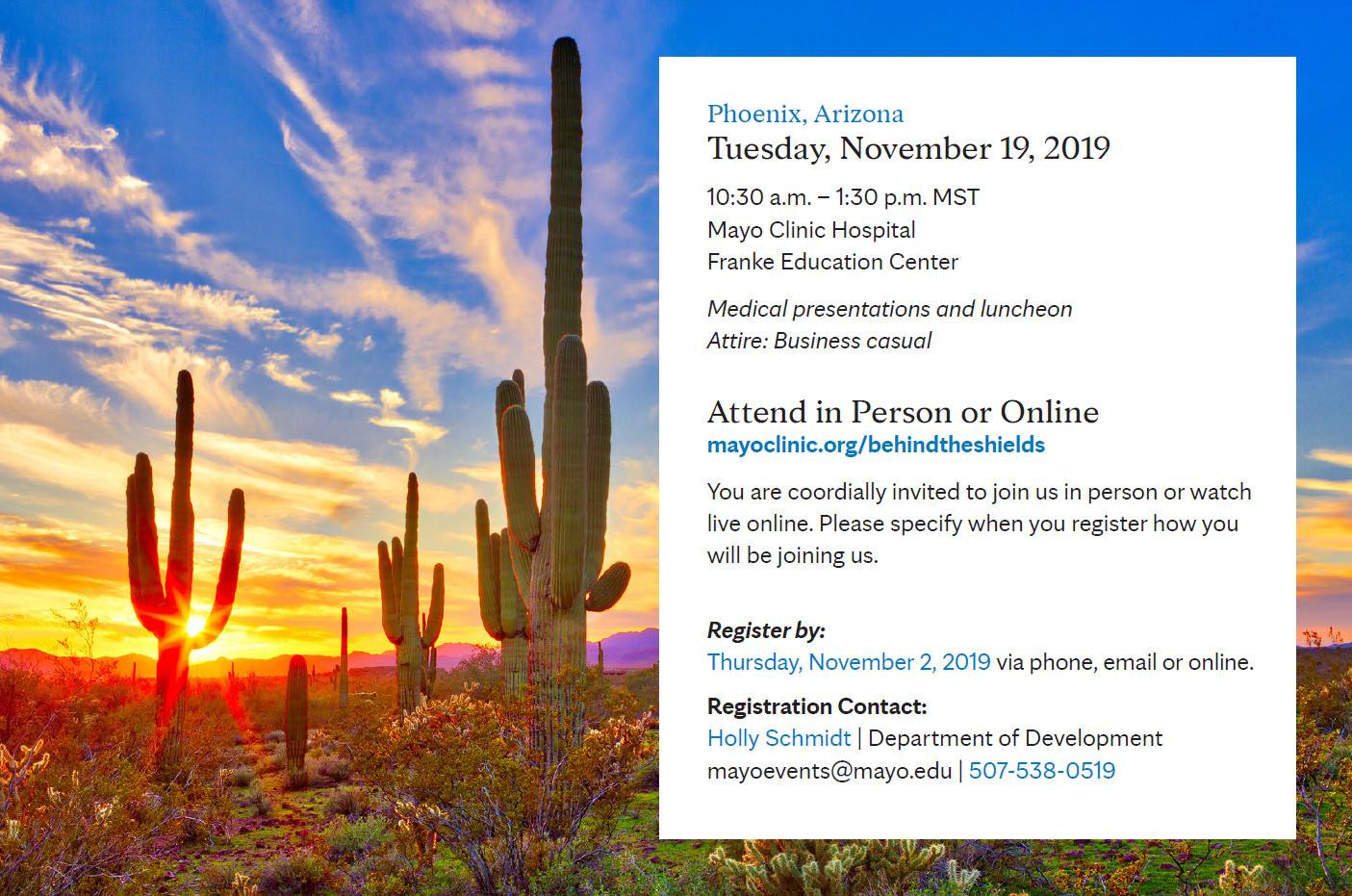 Invitation | Behind the Shields in Phoenix, Arizona 2019