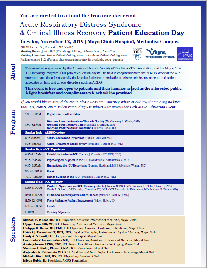Save The Date: Patient Education Day at Mayo Clinic