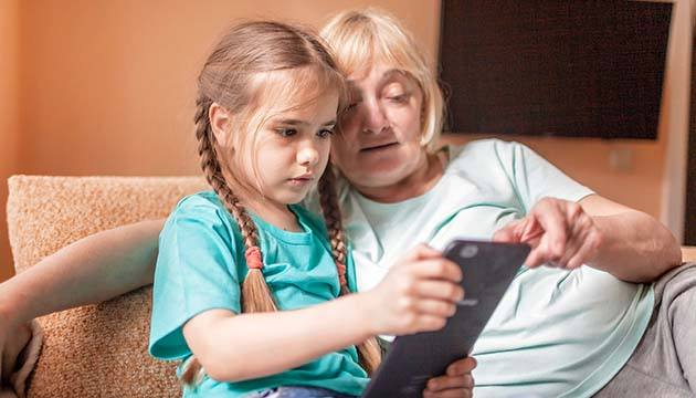 Screen time and grandkids