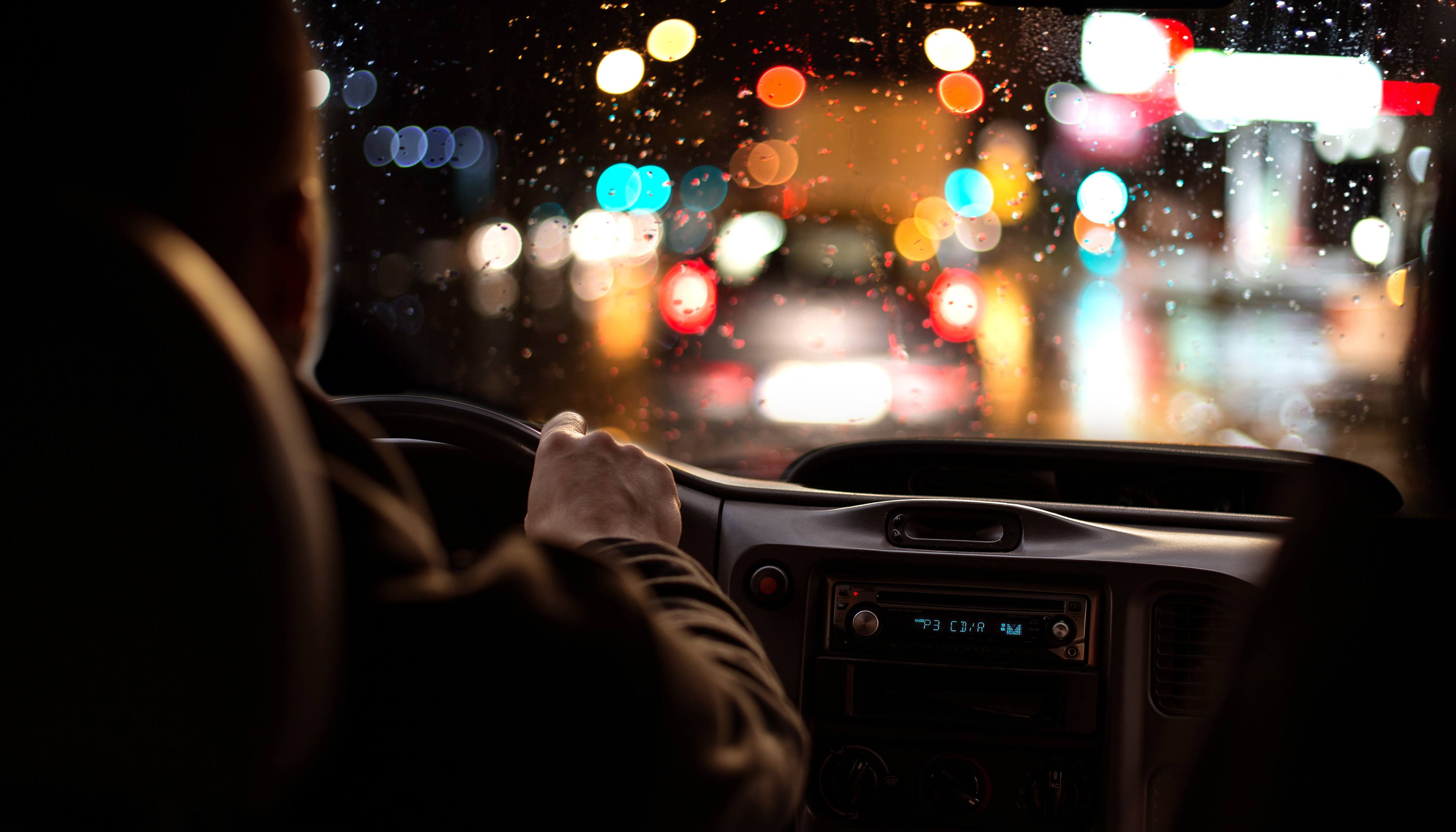 Driving at night, safely