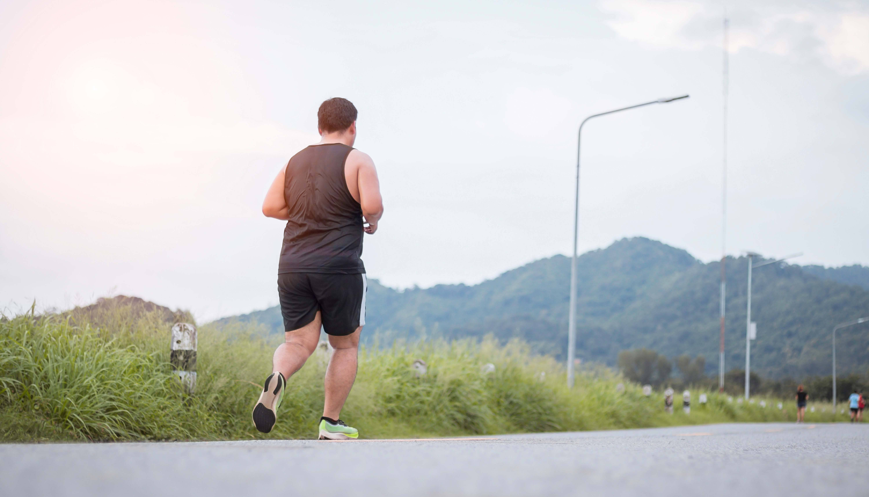 Man running outside