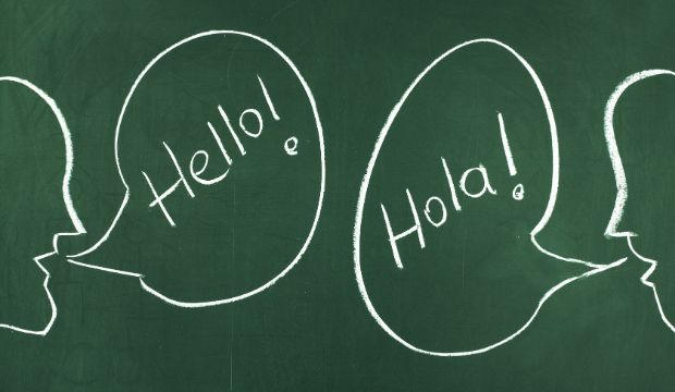 Speech bubbles Spanish-English