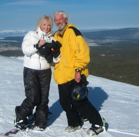 Catherine and Ken Hensler on Mammoth Mountain, Cal.
