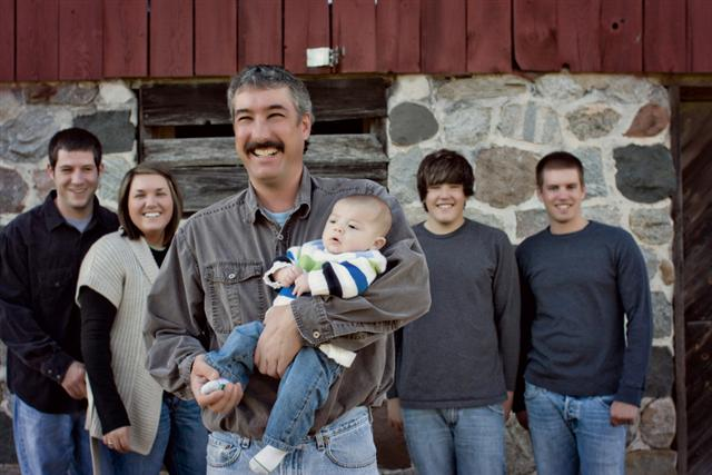 Ron Reffitt Jr and his family in Michigan.
