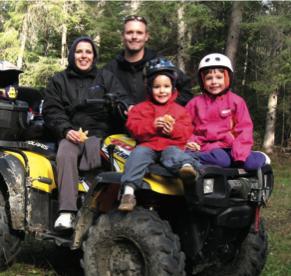 Janis Ollson and her family outside