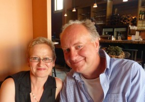 Annemieke van der Werff and her husband