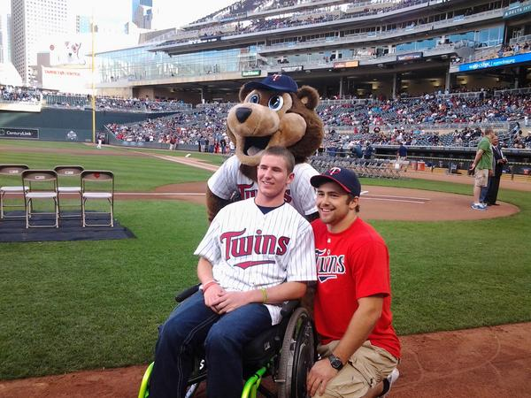 Chris Norton at Minnesota Twins game