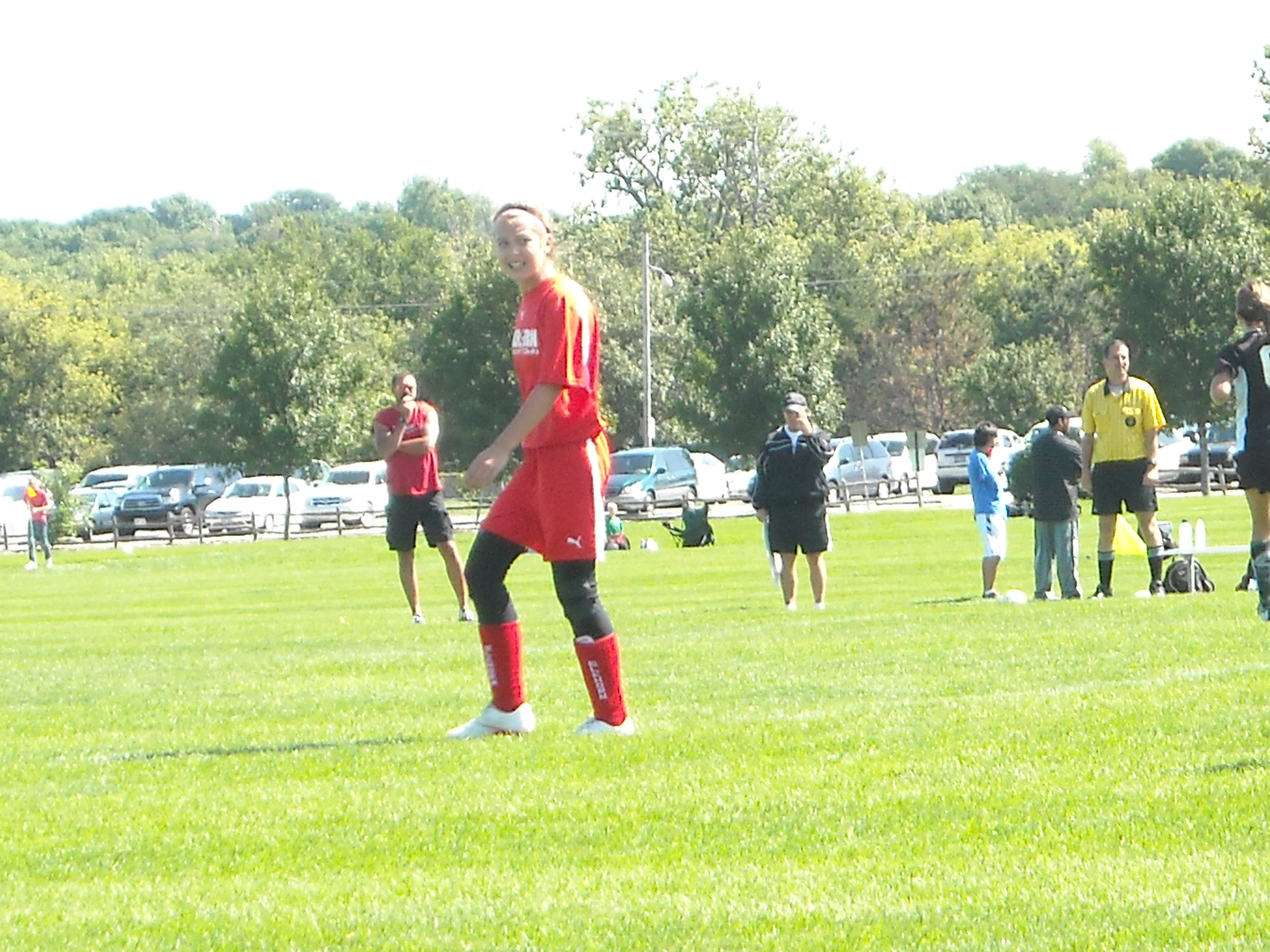 Sydney on the soccer field