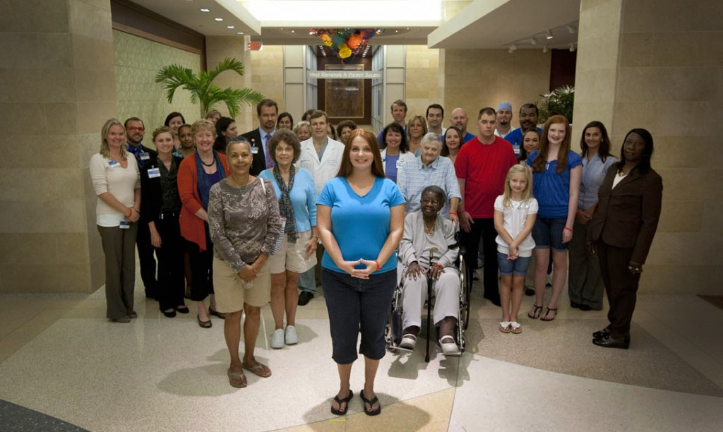 "Group photo of people in the American Heart Association's ""Together to End Stroke"" PSA video"