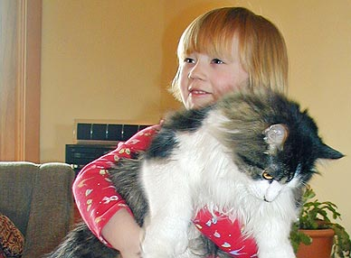 Ella Schultz holding cat