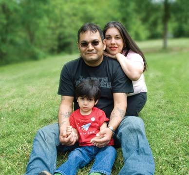 Jayden Gonzalez and his parents