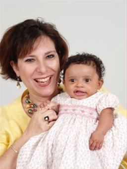 Cindy Weiss with her baby girl