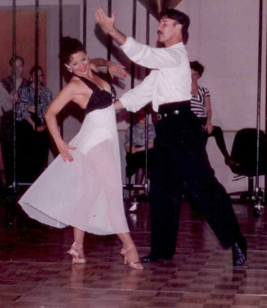 Antoinette Benevento performing at a dance competition.