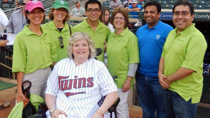 Diane Shea with her fan club
