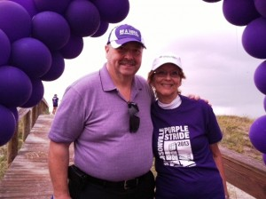Barbara and Adam at a recent PanCan walk in Jacksonville, Fla.