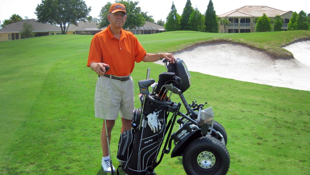 67-year-old Kendall Schwindt of Sun City, Florida, a retiree who spent 26 years with Walmart and who has remained active playing golf and riding his motorcycle.