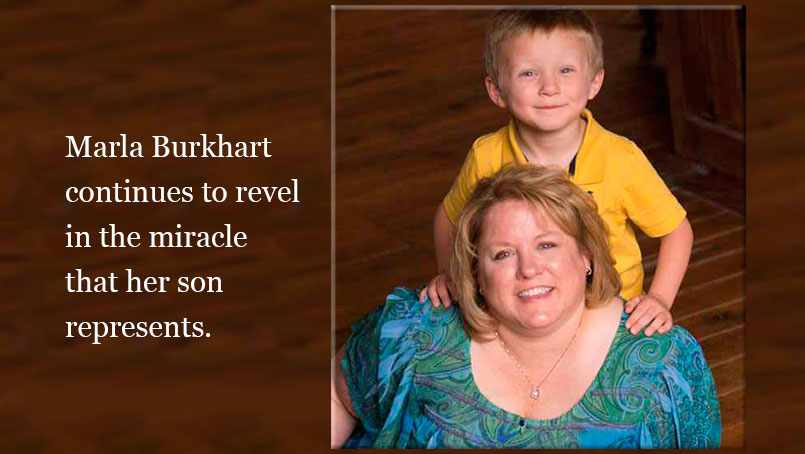 Marla Burkhart with her son, Noah.