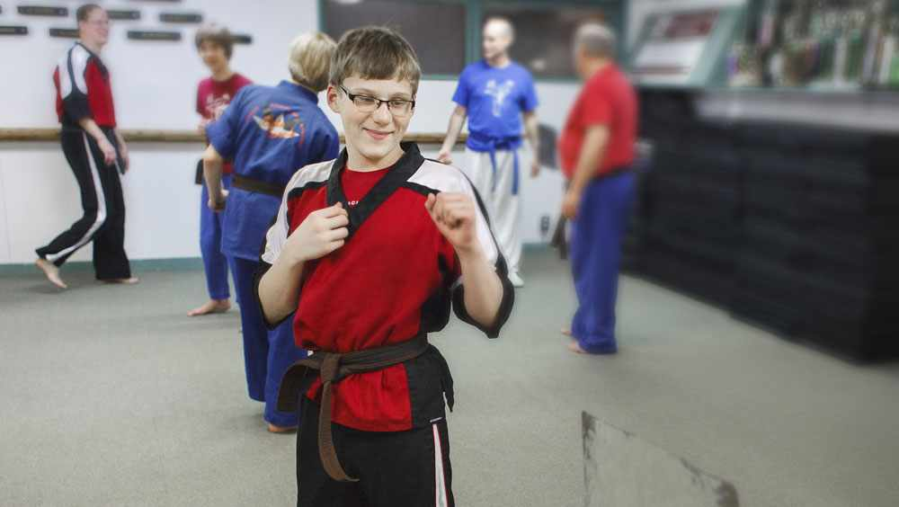 Ty Wiberg received his black belt in karate this past spring, despite mobility challenges caused by spina bifida.
