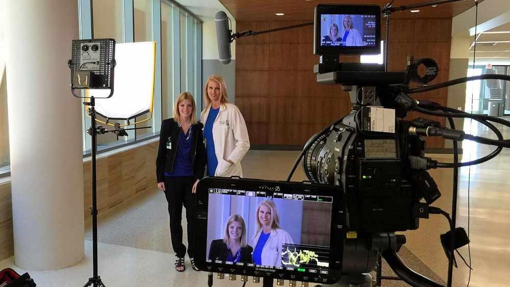 After her surgery, Rebecca Uhl helped Dr. Dawn Jaroszewski promote the procedure to repair excavatum.