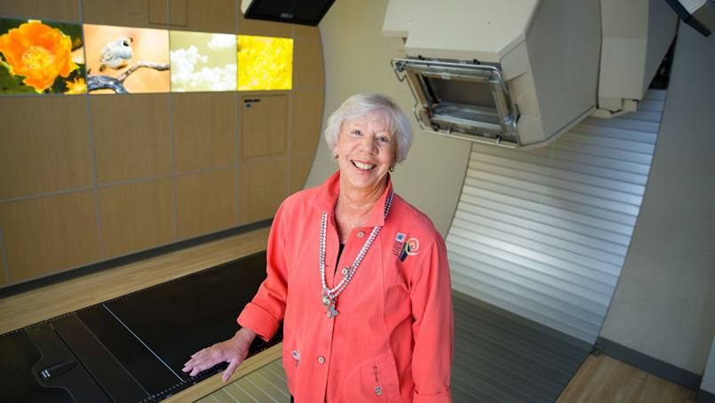 Dr. Leslie Milde was one of the first proton beam therapy patients in Arizona.