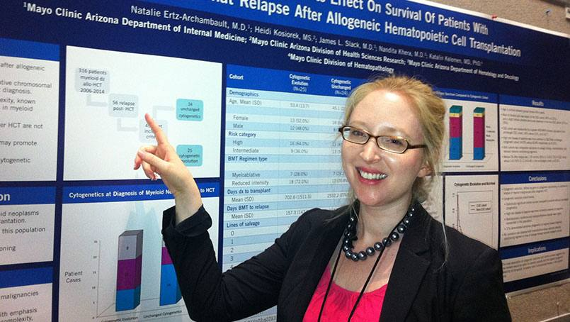 Natalie Ertz-Archambault, M.D. plans to apply for fellowships in hematology and medical oncology after uncovering the cause of her illness.