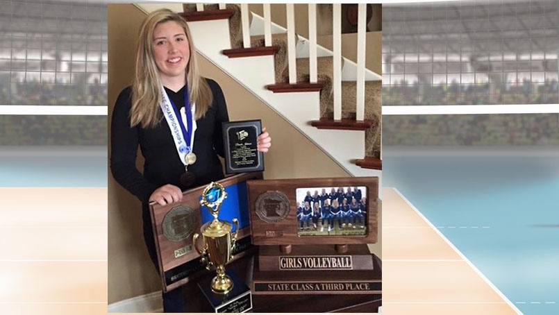 Volleyball player Brooke Johnson was inspired by her care team after her hip surgery.