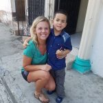 In October, Gabriel ran out to meet Kate Hudson, one of the nurses who cared for him after his March surgery.