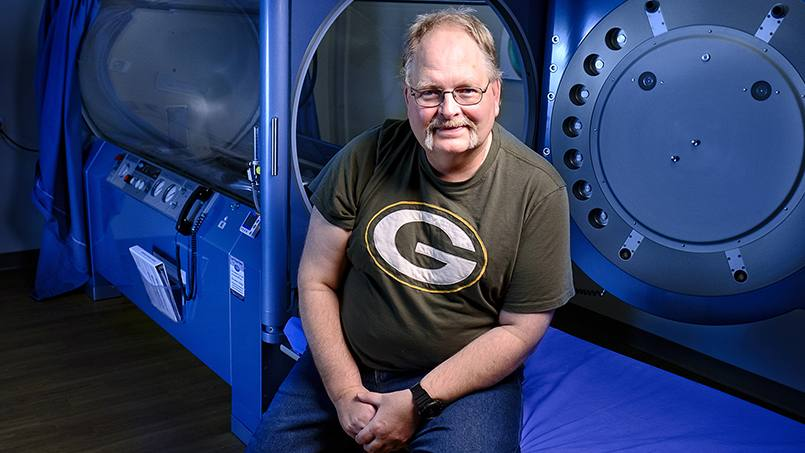 Fritz Kruger was helped by hyperbaric oxygen therapy.