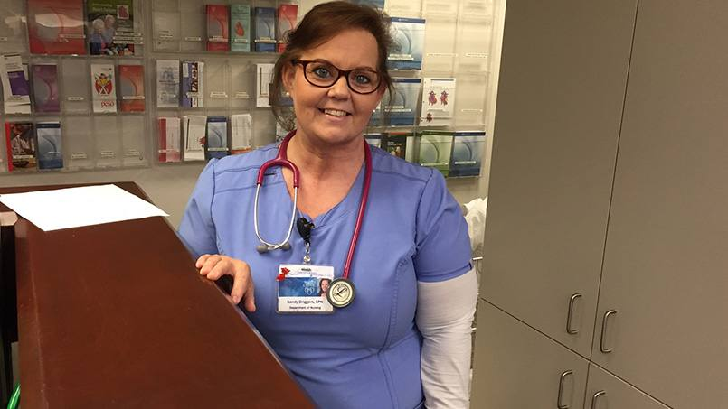 A heart attack at age 39 shocked Sandy Driggers into action. After surgery, Sandy lost weight, began exercising and went back to school to become a nurse. Now she helps others facing heart health challenges.