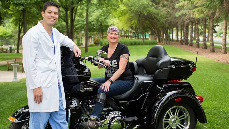 Registered nurse Sue Bothun is loving life again after recovering from a devastating accident that put her in the care of Mayo Clinic orthopedic surgeons.