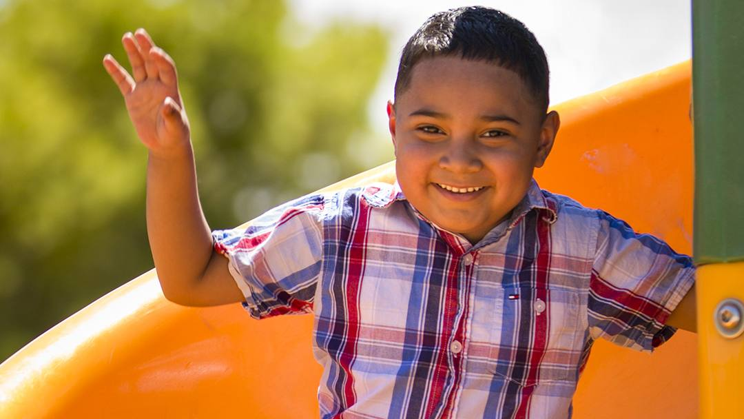 Battling a brain tumor was made a little easier for Airick Amaya and his family when they found out he could receive proton beam therapy close to home, surrounded by his loved ones each day.
