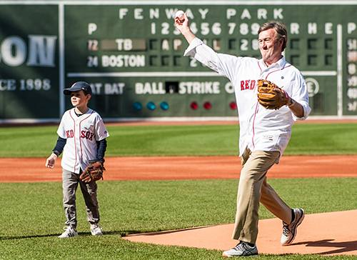 First Pitch at Fenway, a Dream Come True for Dr. Noseworthy