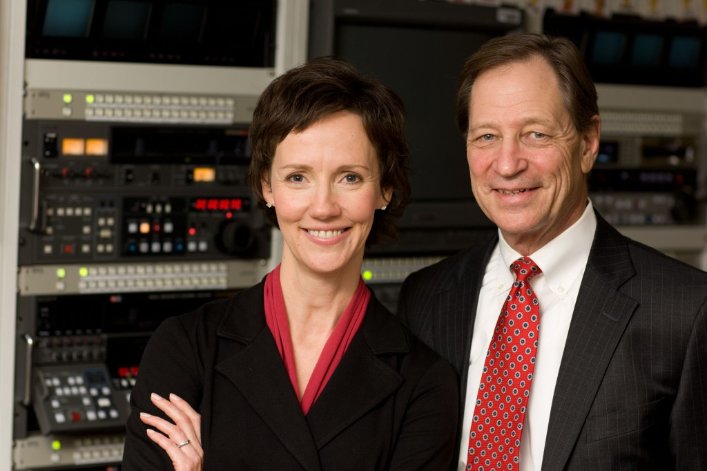 Photo of radio co-hosts Dr. Shives and Tracy McCray