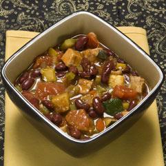 Bowl of turkey chili