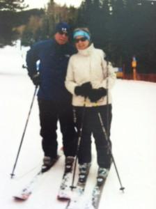 Couple on Skiis