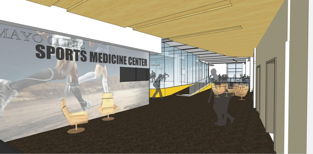 Illustration of proposed Sports Medicine lobby