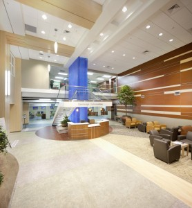 Main lobby entrance to Baptist Health Care facility