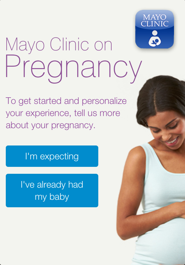 iPhone Pregnancy App graphic of pregnant woman in white sleeveless shirt