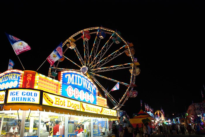 Image of fair with ferris wheel