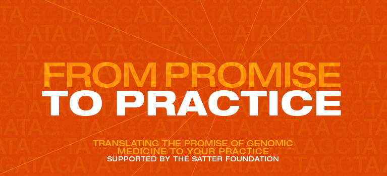 Orange and white logo graphic for CIM conference with title 'From Promise to Practice'