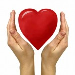 hands holding illustrated heart